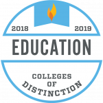 College of Distinction Program Badge Education 2018-2019