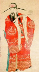 Chinese Official, 19th Century, colored pigment on paper, 53 x 28 ¾ inches, Bukstein Collection, Ramapo College