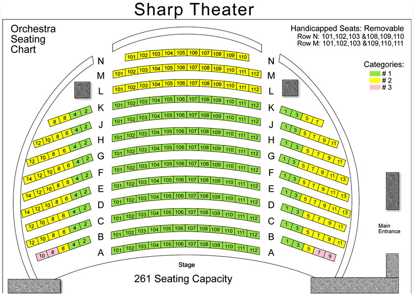 Tickets Seating Berrie Center For Performing And Visual Arts