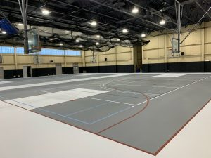 Finished project. Resurfaced Gym Floor