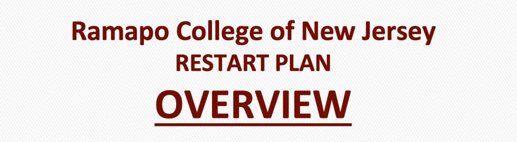 Ramapo College of New Jersey RESTART PLANOVERVIEW