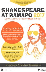 Shakespeare At Ramapo 2017