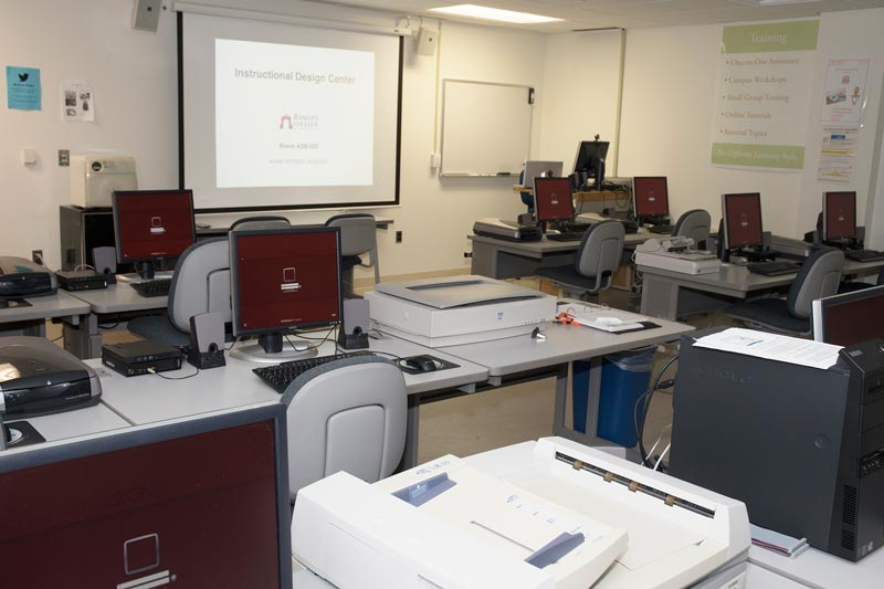 Photo: Instructional Design Center computers