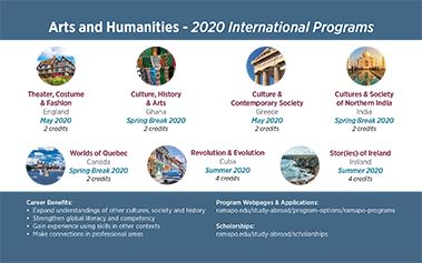 Arts and Humanities - 2020 International Programs Image