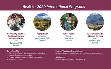 Health - 2020 International Programs Image