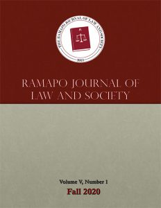 Ramapo Journal of Law & Society Fall 2020 Edition Cover