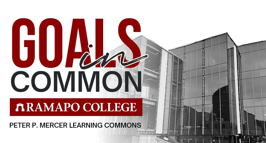 Goals in Common Logo Lockup with Learning Commons Building