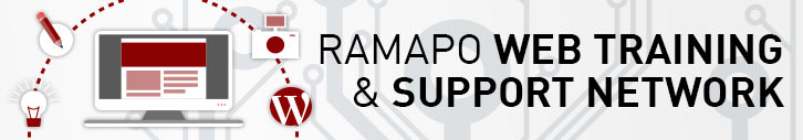 Ramapo Web Training and Support Network