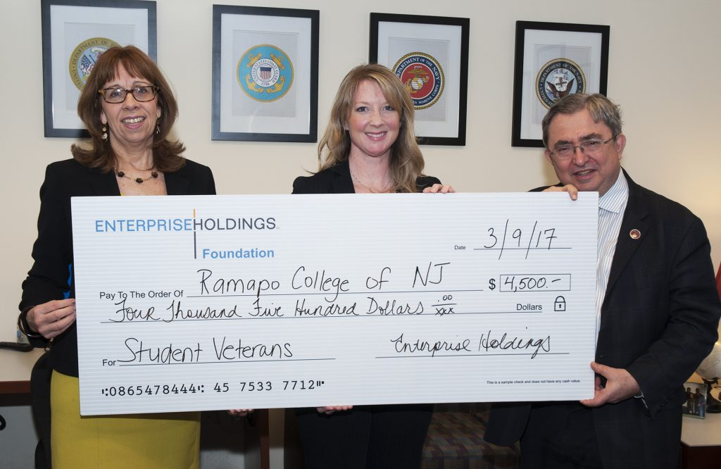 Enterprise Holdings Presents Check to Ramapo College - News / Media