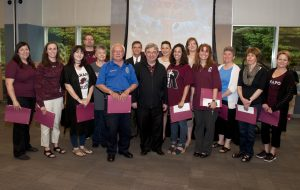 President Mercer presented the 2016 Staff Recognition Award recipients with their awards at the annual Ramapo Picnic.