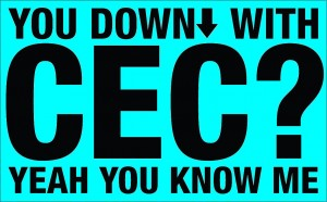 Down with CEC image blue