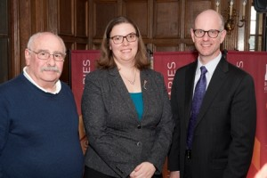 From Left: Dean Saiff, Professor Carberry and Vice Provost Daffron.