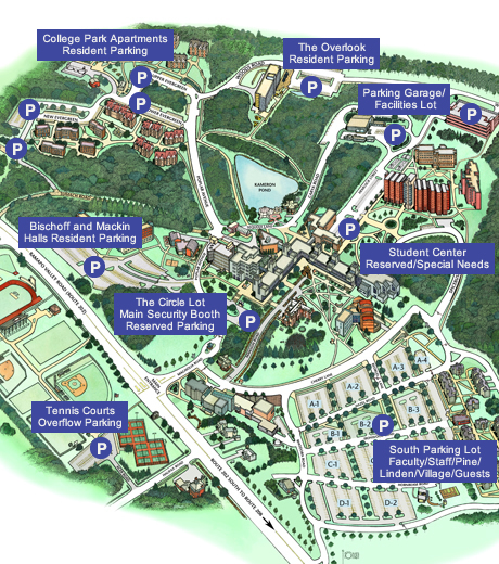 Parking Maps   Public Safety || Ramapo College of New Jersey