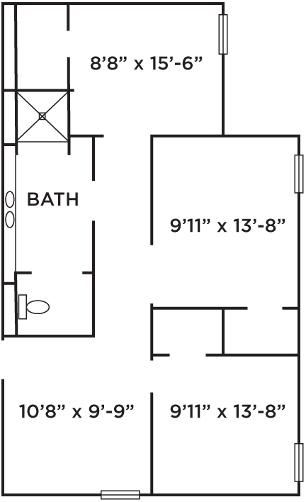 Pine Hall Floor Plan at Ramapo College