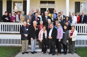 Retired faculty and staff enjoy time together as they are hosted by President Mercer at the Havemeyer House 2