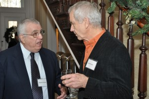 Retired faculty and staff enjoy time together as they are hosted by President Mercer at the Havemeyer House 4