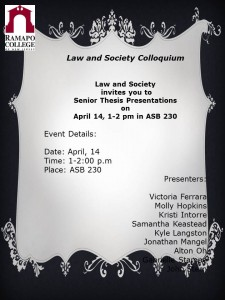 Law and Society Colloquium S15