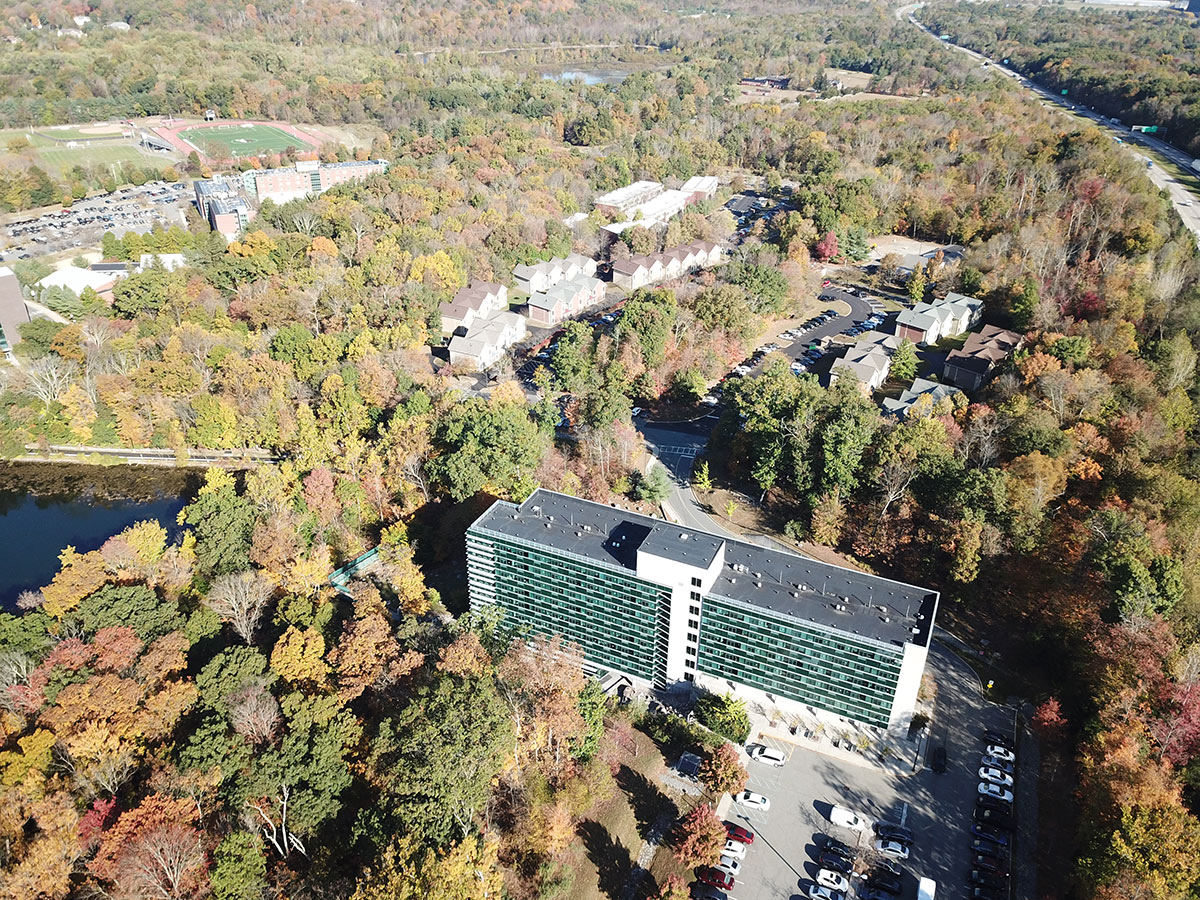 Aerial shot of Overlook and CPA buildings