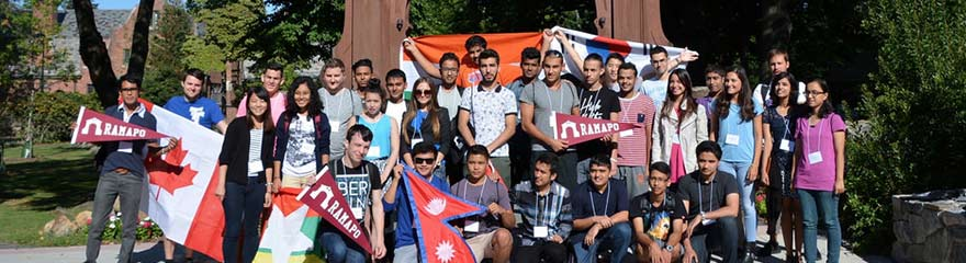 Ramapo International Students in front of the Arch