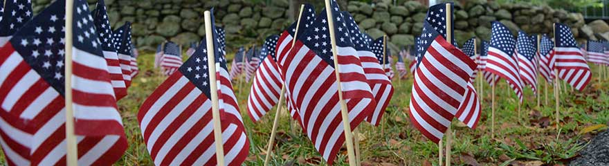 American Flags at Ramapo College