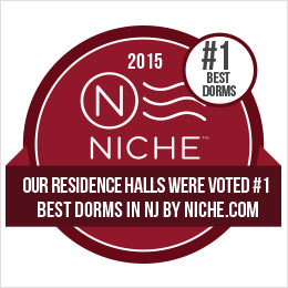 """Our Residence Halls Were """"Voted #1 Best Dorms in NJ"""" by Niche.com in 2015"""