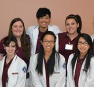 Ramapo College nursing students