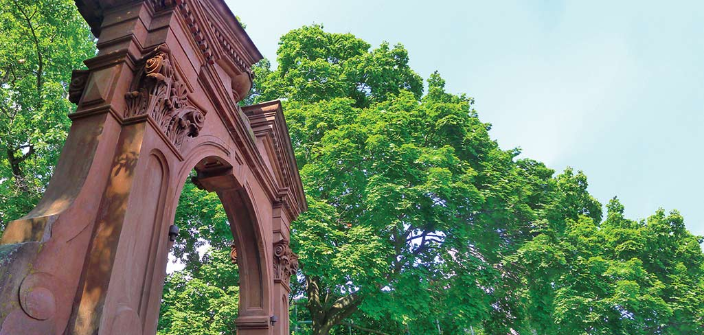 Ramapo College Arch in the Summer