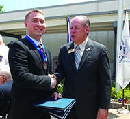 Richard Sensbach was among 11 military veterans honored during the annual Military Appreciation Month Ceremony
