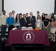 Ramapo College of New Jersey celebrated its 46th birthday during a celebration of Founders' Day on Wednesday, November 4 in Friends Hall. The event was sponsored by the Student Government Association and the Office of the President.