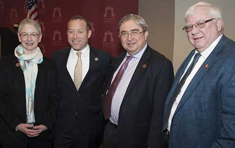 Newly-Elected Congressman Josh Gottheimer Holds Press Conference at Ramapo College