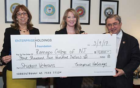 Enterprise Holdings Presents Check for Ramapo College Veterans Students Services